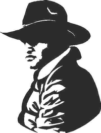 Cowboy Decal / Sticker 05