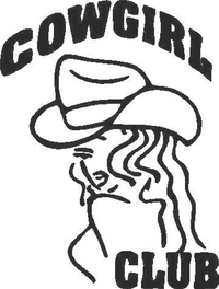 Cowgirl Club Decal / Sticker 01