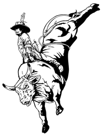 Bullriding Decal / Sticker