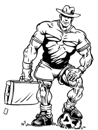 Soccer Cowboys Mascot Decal / Sticker Body 01