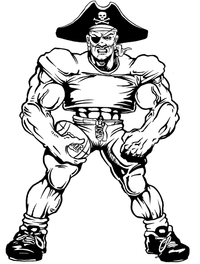 Football Pirates Mascot Decal / Sticker 2