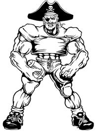Football Pirates Mascot Decal / Sticker 2