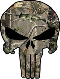 Camouflage Punisher Decal / Sticker 58