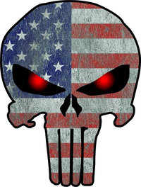 American Flag Punisher Decal / Sticker 70