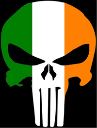 Irish Flag Punisher Decal / Sticker 97