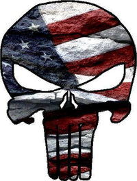 American Flag Rock Punisher Decal / Sticker