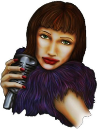 Woman Singer Decal / Sticker 01