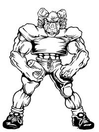 Football Rams Mascot Decal / Sticker 3
