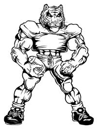 Football Tigers Mascot Decal / Sticker 2