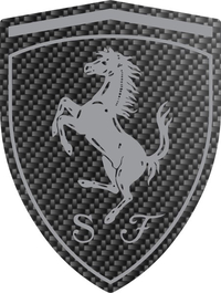 Carbon Fiber Ferrari Crest Decal / Sticker 32