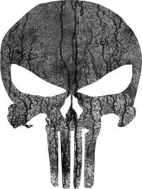 Weathered Punisher Decal / Sticker 32
