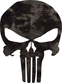 Scratched Punisher Decal / Sticker 33