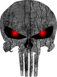 Weathered Punisher Decal / Sticker 35