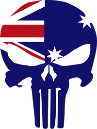 Australian Flag Punisher Decal / Sticker 01