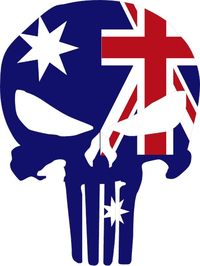 Australian Flag Punisher Decal / Sticker 02
