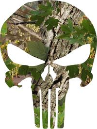 Camouflage Punisher Decal / Sticker 51