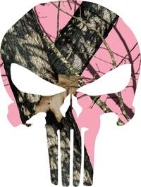 Pink Camouflage Punisher Decal / Sticker 52