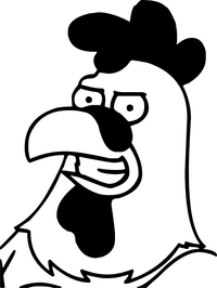 Family Guy Chicken Decal / Sticker 01