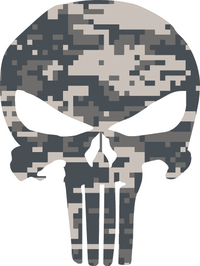 Digital Camo Punisher Decal / Sticker 57
