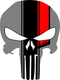 45th Anniversary Punisher Decal / Sticker 64