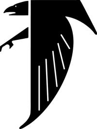 Hawks / Falcons Mascot Decal / Sticker 02
