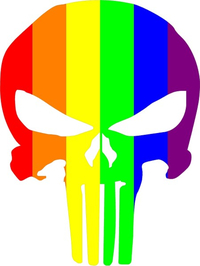 LGBT Flag Punisher Decal / Sticker 80