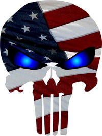 American Flag Punisher Decal / Sticker 84