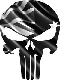 Australian Flag Punisher Decal / Sticker 04