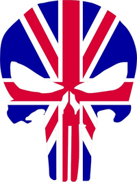 British Flag Punisher Decal / Sticker 101