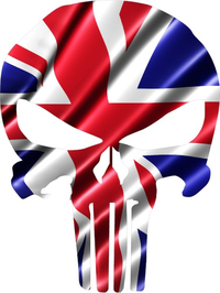 British Flag Punisher Decal / Sticker 102