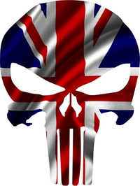 British Flag Punisher Decal / Sticker 103