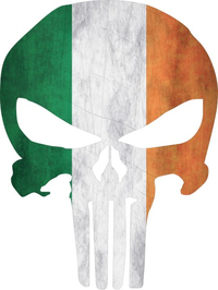 Irish Flag Punisher Decal / Sticker 104