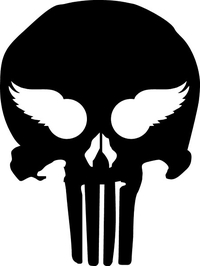 Detroit Red Wings Inspired Punisher Decal / Sticker 91