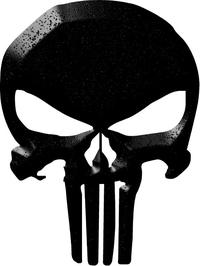 Simulated Black Beveled Punisher Decal / Sticker 146
