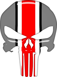 Ohio State Punisher Decal / Sticker 149 Simulated Glass