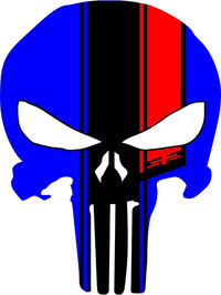 45th Anniversary Punisher Decal / Sticker 153