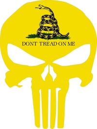 Gadsden Flag Punisher Decal / Sticker 154