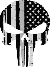 Weathered Punisher Decal / Sticker 159