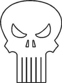 Punisher Decal / Sticker 05