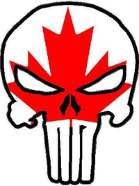 Canadian Flag Punisher Decal / Sticker 02