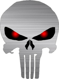 Brushed Red Eyed Punisher Decal / Sticker 18
