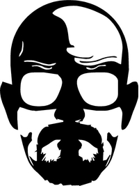 Breaking Bad Heisenberg (Walter White) Decal / Sticker