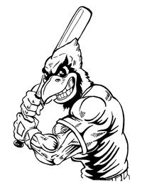 Baseball Cardinals Mascot Decal / Sticker 5