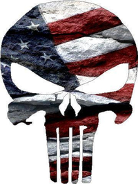 American Flag Punisher 02 Decal / Sticker