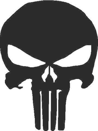 1a Punisher Decal / Sticker 02