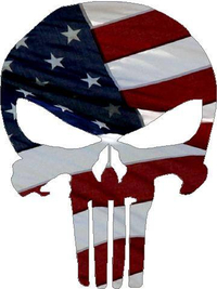 American Flag Punisher Decal / Sticker