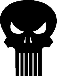 Small Punisher Decal / Sticker