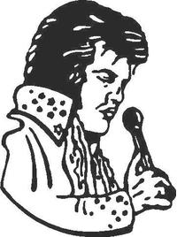 Elvis Decal / Sticker 05