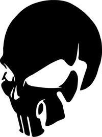 3D Punisher Decal / Sticker 129