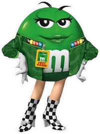 Green NASCAR M&M Decal / Sticker 57